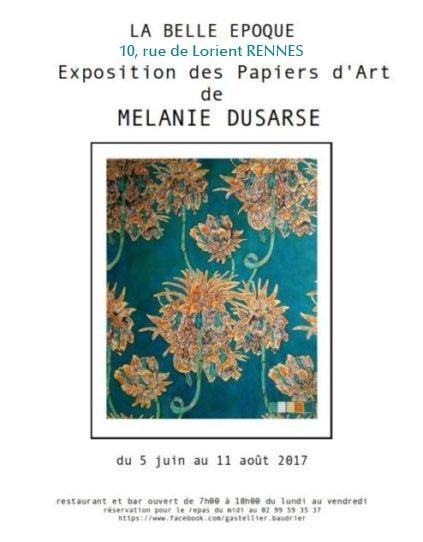 Papier d'Art  Mélanie Dusarse à Rennes du 5 juin au 11 août 2017