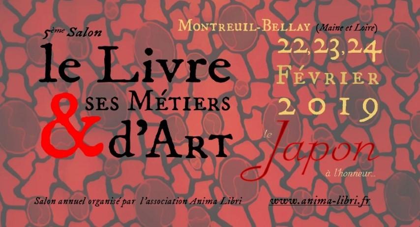 Participation au Salon Le Livre et ses Métiers d'Art à Montreuil Bellay en  février 2019